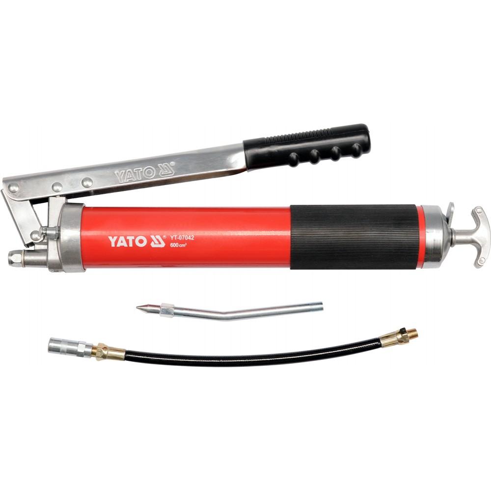 YT-07042 Шприц для консистентной смазки 600см³