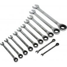 YT-02069 Набор ключей трещоточных 8-19 мм 12 предметов.