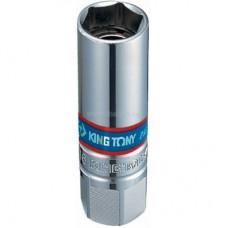 """Головка свечная шестигранная 3/8"""", 16(21) мм, магнитный фиксатор KING TONY 366516"""