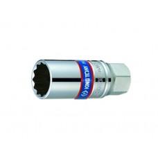 """Головка свечная  многогранная ,шестигранная 1/2"""", 21 мм, 16мм L = 70 мм, резиновый фиксатор, KING TONY 4635(4630) R  магнитный фиксатор 4665"""