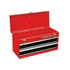 Ящик инструментальный, 2 ящика и отсек, красный KING TONY 87401-2