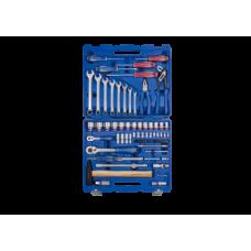 7577MR Набор головок 1/4-1/2 с инструментом 77 предметов.