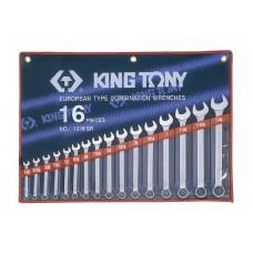Набор комбинированных  дюймовых ключей 16 предметов KING TONY 1216SR