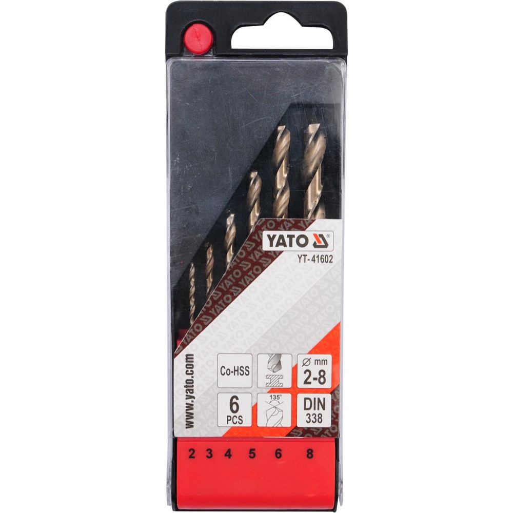 YT-41602 Набор свёрл  кобальт от 2-8 мм