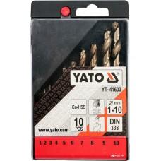 YT-41603 Набор свёрл  кобальт от 1-10 мм