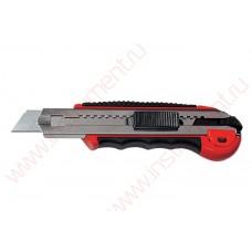 Нож, 18 мм, выдвижное лезвие, метал. направляющая, обрезиненная ручка + 5 лезвий// MATRIX MASTER      ЦЕНУ УТОЧНЯЙТЕ